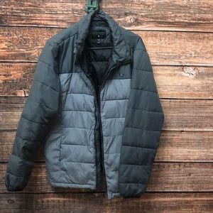 Billabong Puffer Two Toned Gray Jacket